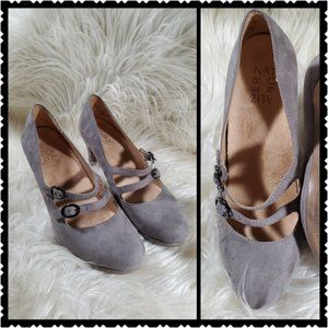 Naturalizer size .5M suade gray soft slip on